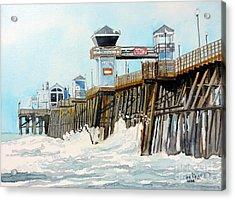 Ruby's Oceanside Pier Acrylic Print