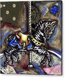 Ruby's Zebra Acrylic Print