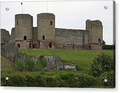 Acrylic Print featuring the photograph Ruddlan Castle 2 by Christopher Rowlands