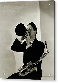 Rudy Vallee With A Saxophone Acrylic Print