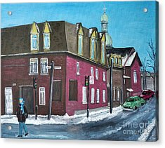 Rue Centre Pte St Charles Acrylic Print by Reb Frost