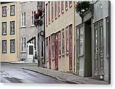 Rue De Jardiens In Quebec City Acrylic Print by Juergen Roth