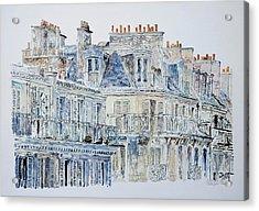 Rue Du Rivoli Paris Acrylic Print by Anthony Butera