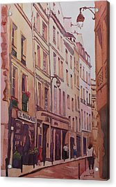 Rue Galande Acrylic Print by Jenny Armitage