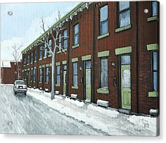 Rue Grand Trunk Pointe St. Charles Acrylic Print by Reb Frost