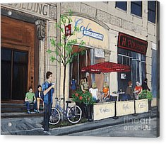 Rue Peel Acrylic Print by Reb Frost