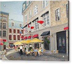 Rue Saint Amable Restaurant Acrylic Print