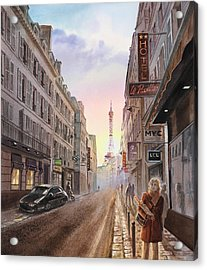 Rue Saint Dominique Sunset Through Eiffel Tower   Acrylic Print