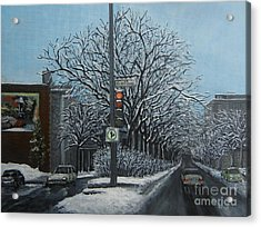 Rue St Jacques Acrylic Print by Reb Frost