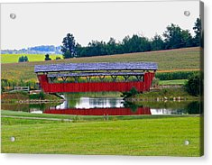 Ruffner Covered Bridge Acrylic Print by Jack R Perry