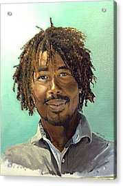 Acrylic Print featuring the painting Rufus by Lori Ippolito