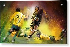 Rugby 01 Acrylic Print by Miki De Goodaboom