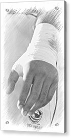 Rugby Hands Acrylic Print by Evan Premer