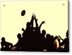 Rugby Line Out Acrylic Print