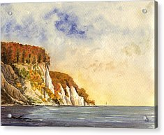 Rugen Cliffs Acrylic Print by Juan  Bosco