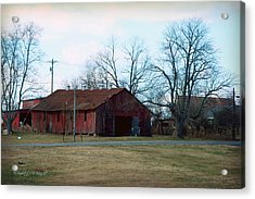 Rugged Shed II Acrylic Print by Paulette B Wright