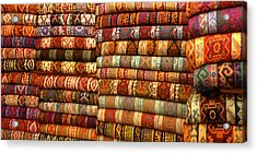 Rugs Kilims Carpets Grand Bazaar Istanbul Turkey Acrylic Print by PIXELS  XPOSED Ralph A Ledergerber Photography