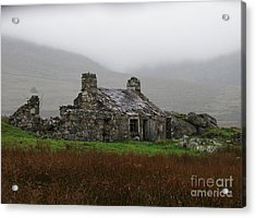 Ruined Cottage Snowdonia Acrylic Print by Nicola Butt