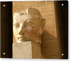 ruined head of Hatshepsut Acrylic Print by Brenda Kean