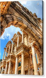 Ruined Library In Ephesus  Acrylic Print by Laura Palmer