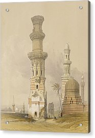 Ruined Mosques In The Desert Acrylic Print by David Roberts