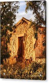 Ruined Sounion House 8 Acrylic Print by Deborah Smolinske