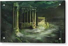 Ruined Temple Acrylic Print by Anthony Christou