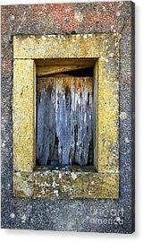 Ruined Window Acrylic Print by Carlos Caetano