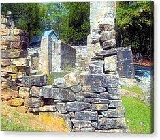 Ruins At Cosley Mill Acrylic Print