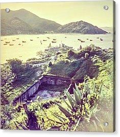Ruins By A Harbor In Macau Acrylic Print by Nick De Morgoli