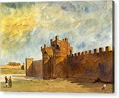 Ruins Morocco Acrylic Print by Juan  Bosco
