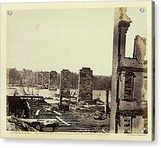 Ruins Of A Railroad Bridge Acrylic Print