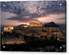 Ruins Of A Temple, Athens, Attica Acrylic Print