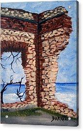 Ruins Of Aguadilla Lighthouse Acrylic Print