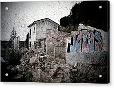 Ruins Of An Abandoned Farm House Acrylic Print by RicardMN Photography
