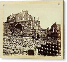 Ruins Of An Ammunition Store Acrylic Print