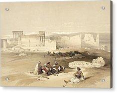 Ruins Of Baalbec, May 5th 1839, Plate Acrylic Print
