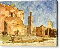 Ruins Of Chellah  Acrylic Print by Juan  Bosco