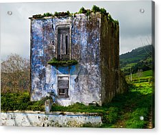 Ruins Of House Painted Blue Acrylic Print