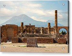 Ruins Of Pompeii Acrylic Print by Gurgen Bakhshetsyan
