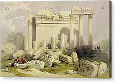 Ruins Of The Eastern Portico Acrylic Print by David Roberts