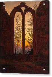 Ruins Of The Oybin Monastery The Dreamer Acrylic Print by Philip Ralley