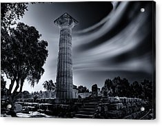 Acrylic Print featuring the photograph Ruins Of Zeus's Temple At Olympia by Micah Goff