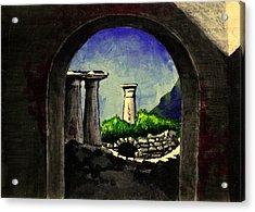 Acrylic Print featuring the painting Ruins by Salman Ravish