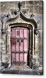 Ruins With Red Door Acrylic Print by Evie Carrier
