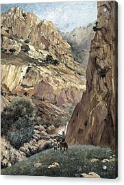 Ruiz Luna, Justo. Don Quixote At Sierra Acrylic Print