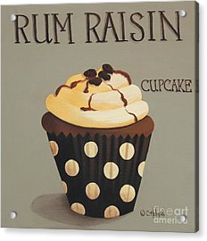 Rum Raisin Cupcake Acrylic Print by Catherine Holman
