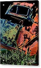 Rumble Seat Acrylic Print by Barbara D Richards