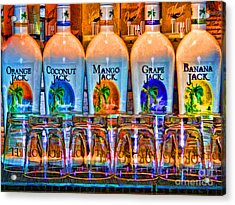 Rums Acrylic Print by Clare VanderVeen