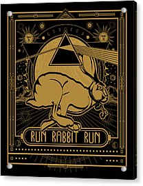 Run Rabbit Run Acrylic Print